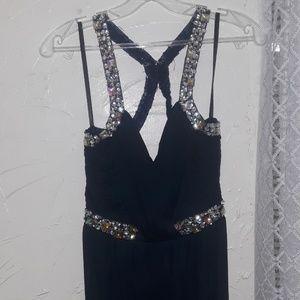 Navy Blue criss cross back dress